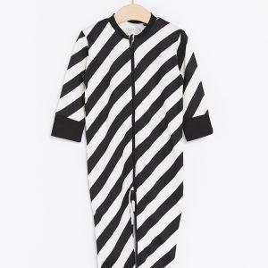 Lindex Raidallinen Pyjama Musta
