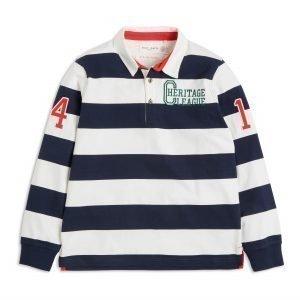 Lindex Raidallinen Rugby Paita Sininen