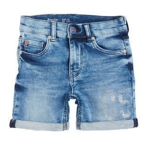 Lindex Regular Denimshortsit Joissa Painatus Sininen