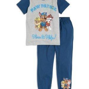 Lindex Ryhmä Hau Pyjamasetti Sininen