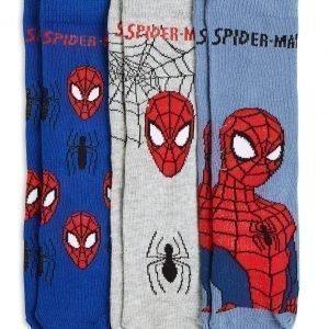 Lindex Spiderman Sukat Sininen 3-Pakkaus