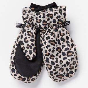 Lindex Vettähylkivät Leopardikuvioidut Rukkaset Beige