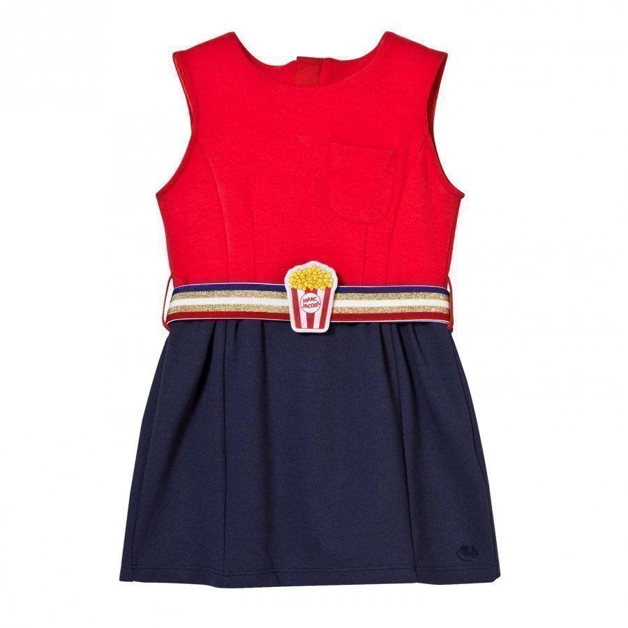 Little Marc Jacobs Bi-Colour Milano Dress With Popcorn Belt Mekko