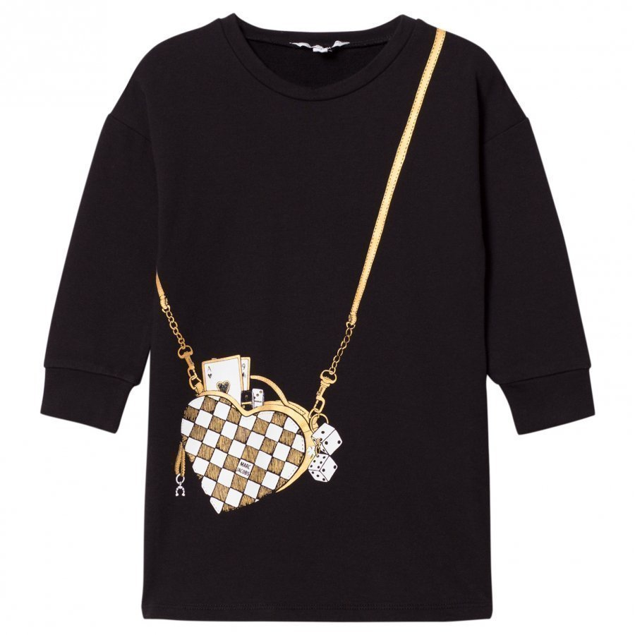 Little Marc Jacobs Black Bag Jersey Long-Sleeve Dress Mekko