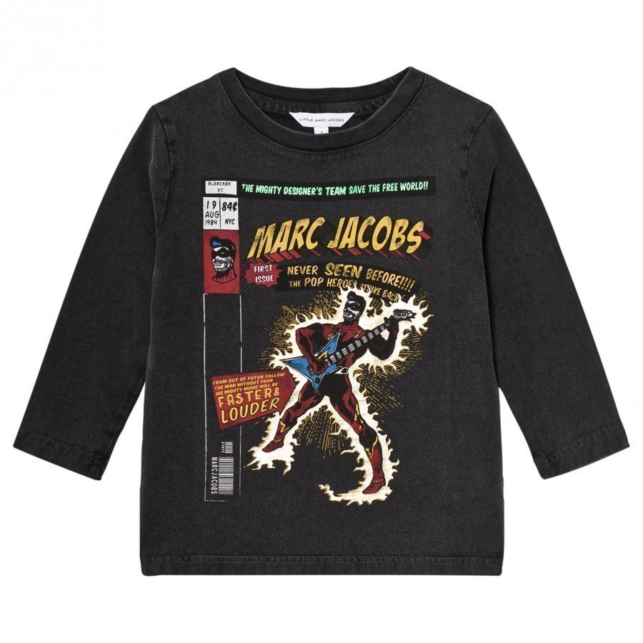 Little Marc Jacobs Black Washed Comic Tee T-Paita