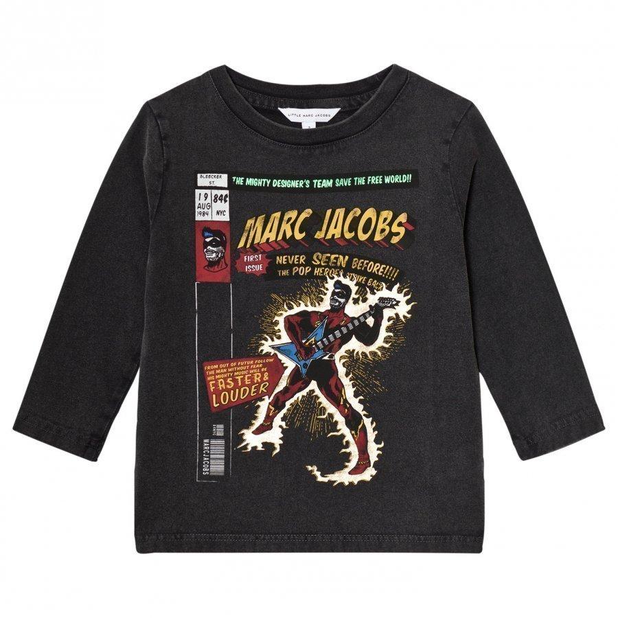 Little Marc Jacobs Black Washed Comic Tee T-Paita