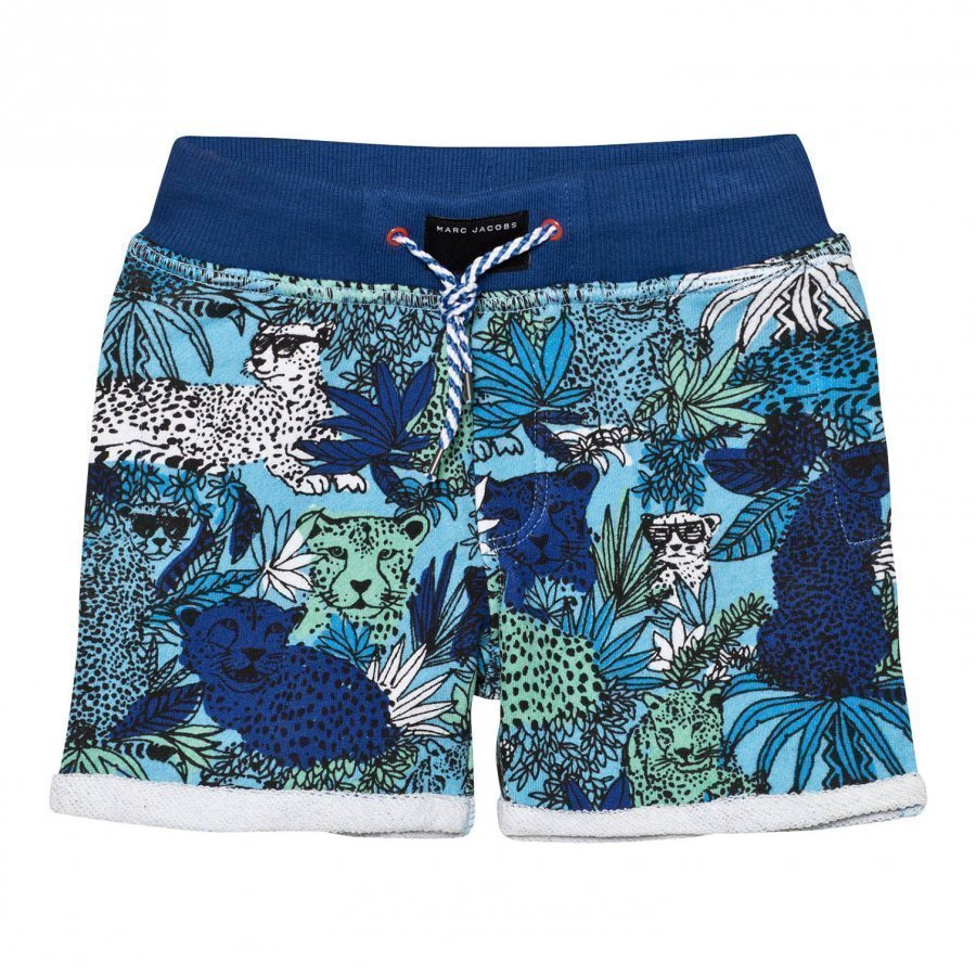 Little Marc Jacobs Blue Jersey Jungle Print Shorts Oloasun Shortsit