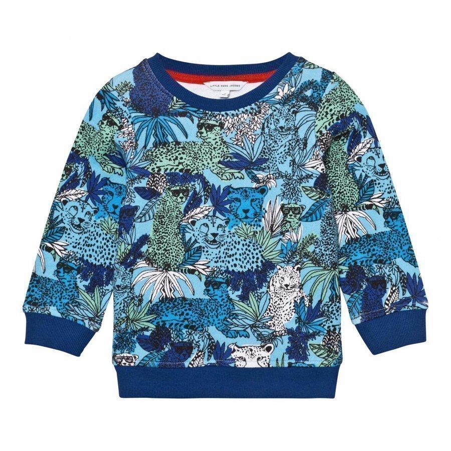 Little Marc Jacobs Blue Jungle And Leopard Print Sweatshirt Oloasun Paita