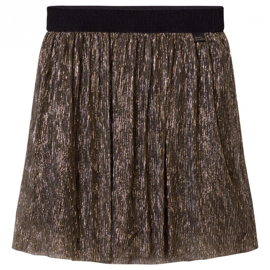 Little Marc Jacobs Gold Pleated Midi Skirt Midihame