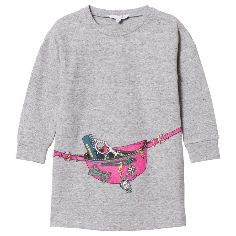 Little Marc Jacobs Grey Bag Jersey Long-Sleeve Dress Mekko