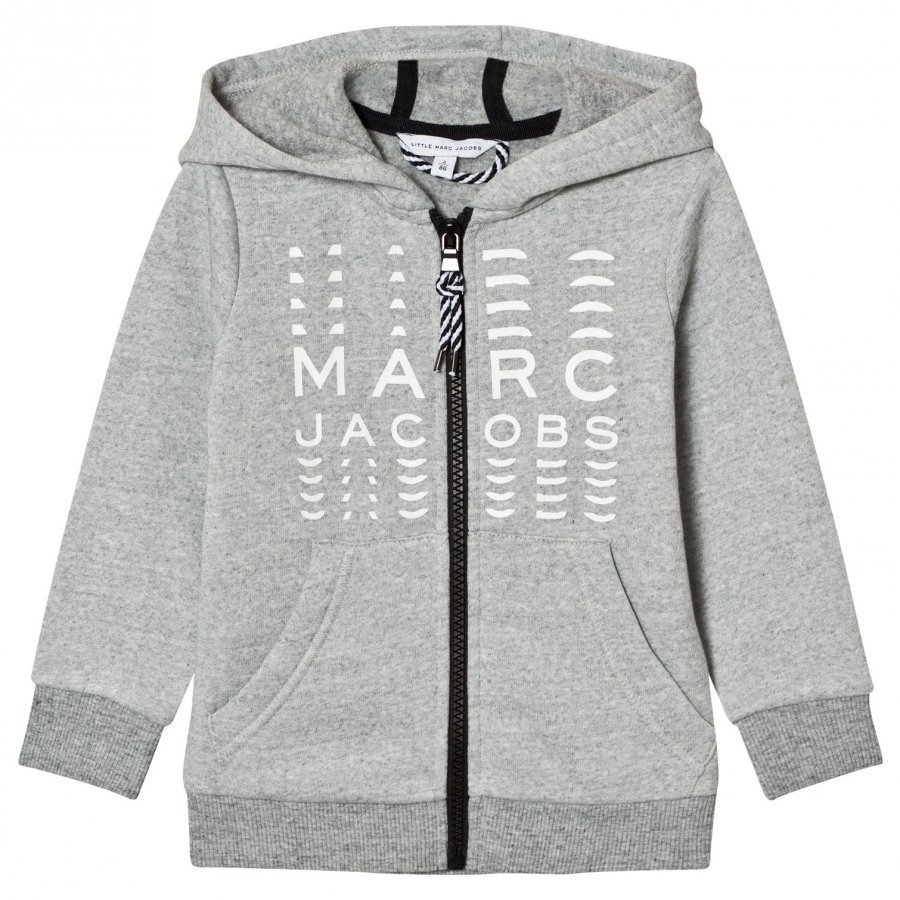 Little Marc Jacobs Grey Branded Hoody Huppari
