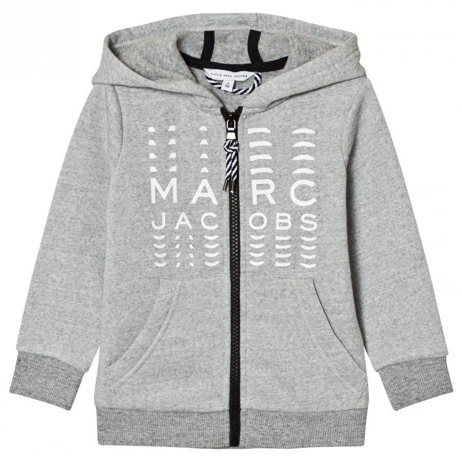 Little Marc Jacobs Grey Branded Hoody Huppari
