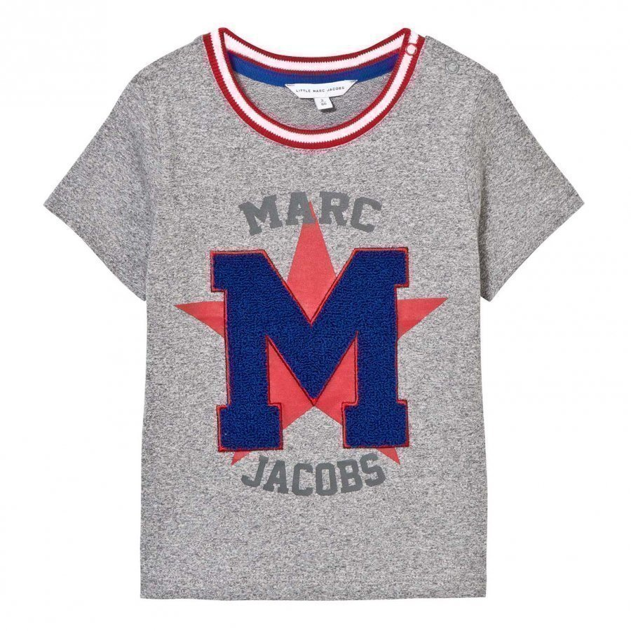 Little Marc Jacobs Grey Chenille Tee T-Paita