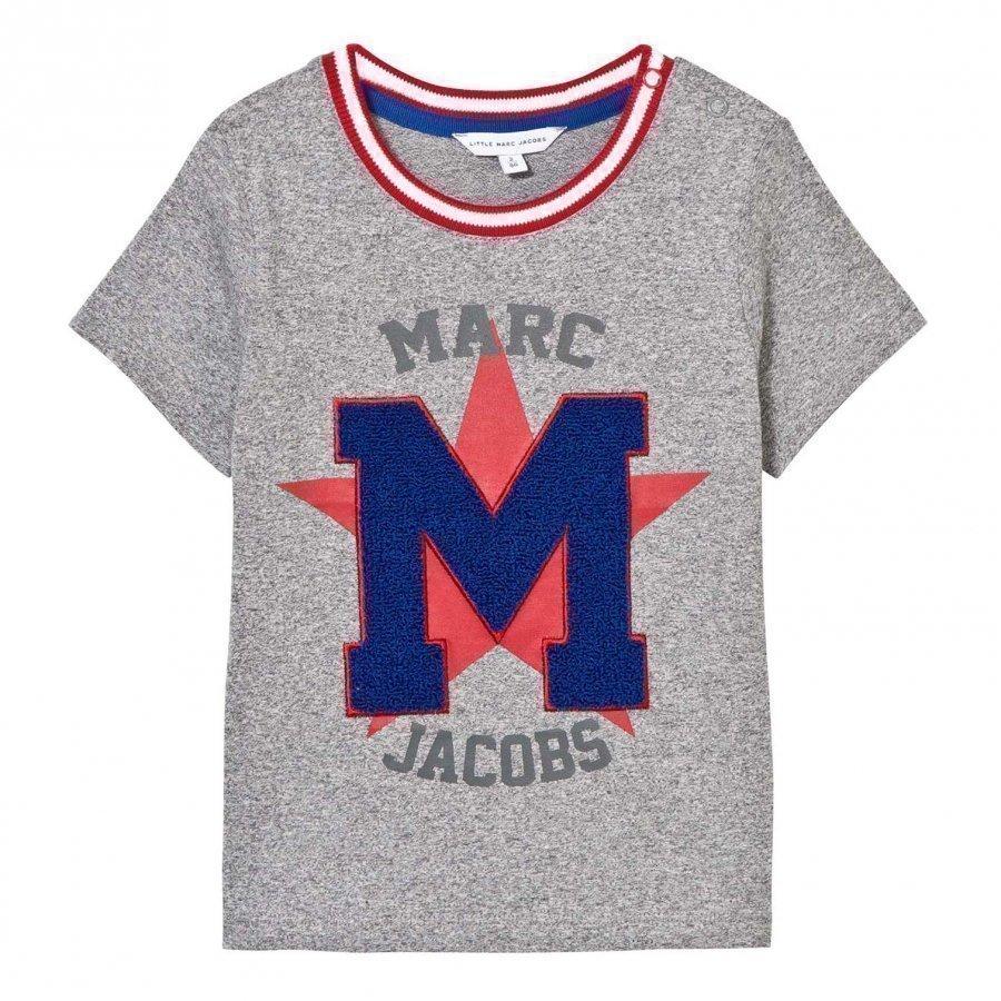 Little Marc Jacobs Grey Chenille Tee T-Paita