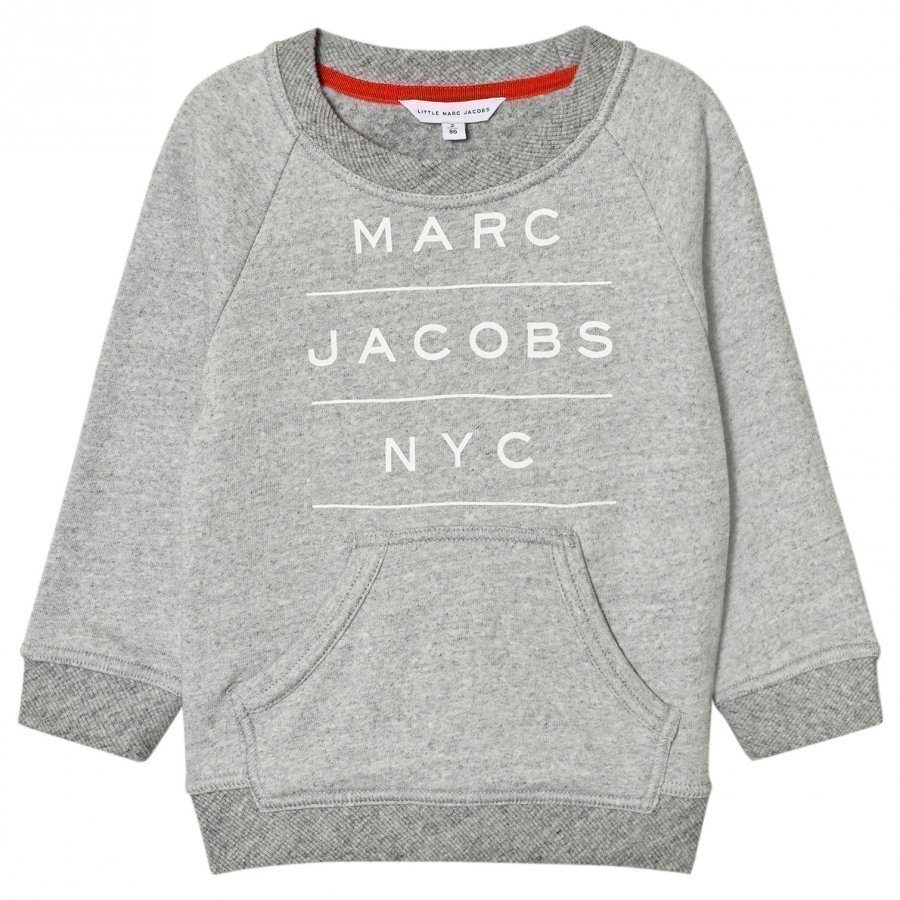 Little Marc Jacobs Grey Marl Branded Sweatshirt Oloasun Paita