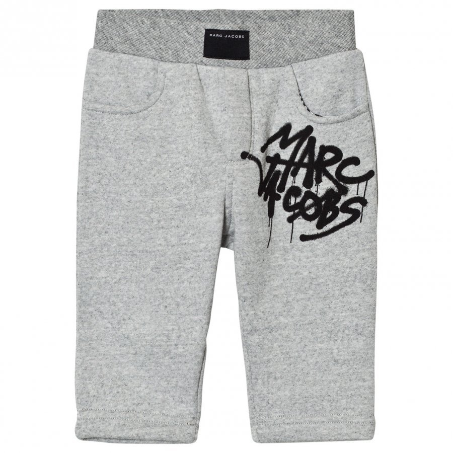 Little Marc Jacobs Grey Marl Graffiti Branded Sweat Pants Verryttelyhousut
