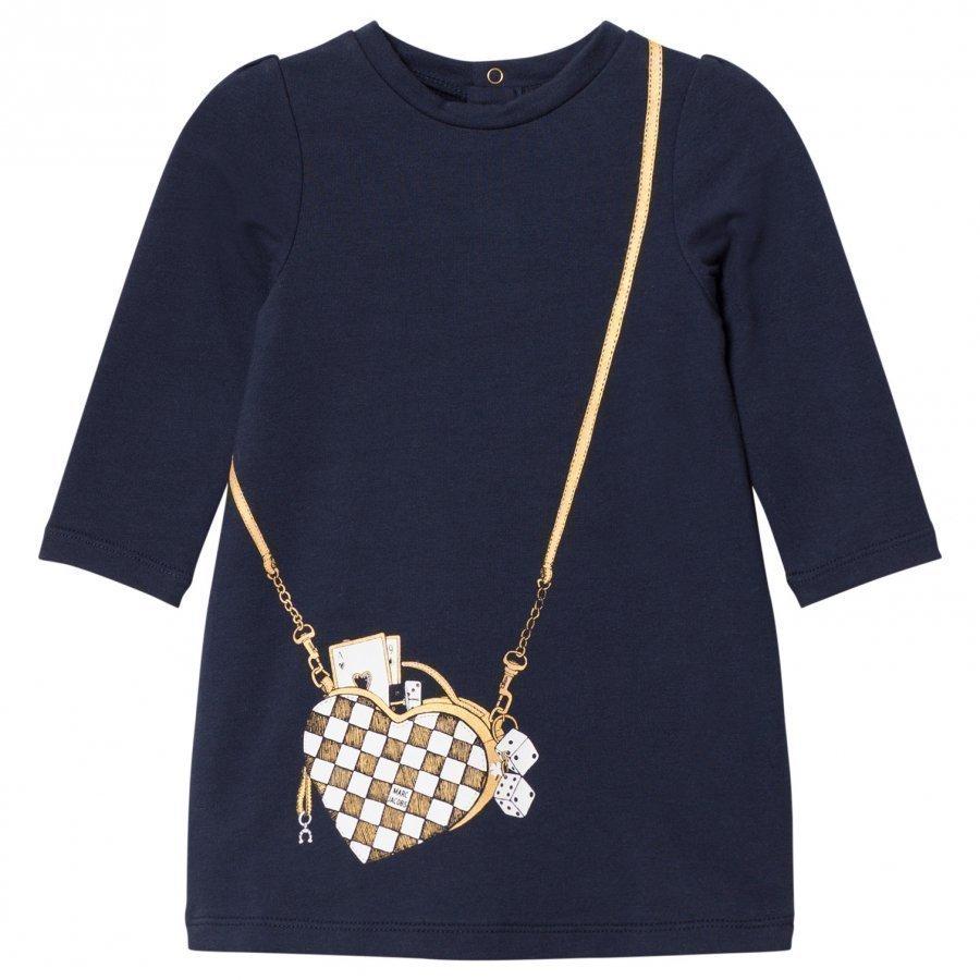 Little Marc Jacobs Navy Bag Jersey Long-Sleeve Dress Mekko