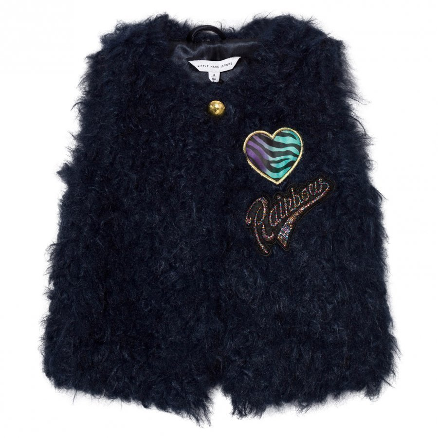 Little Marc Jacobs Navy Faux Fur Gilet Turkis