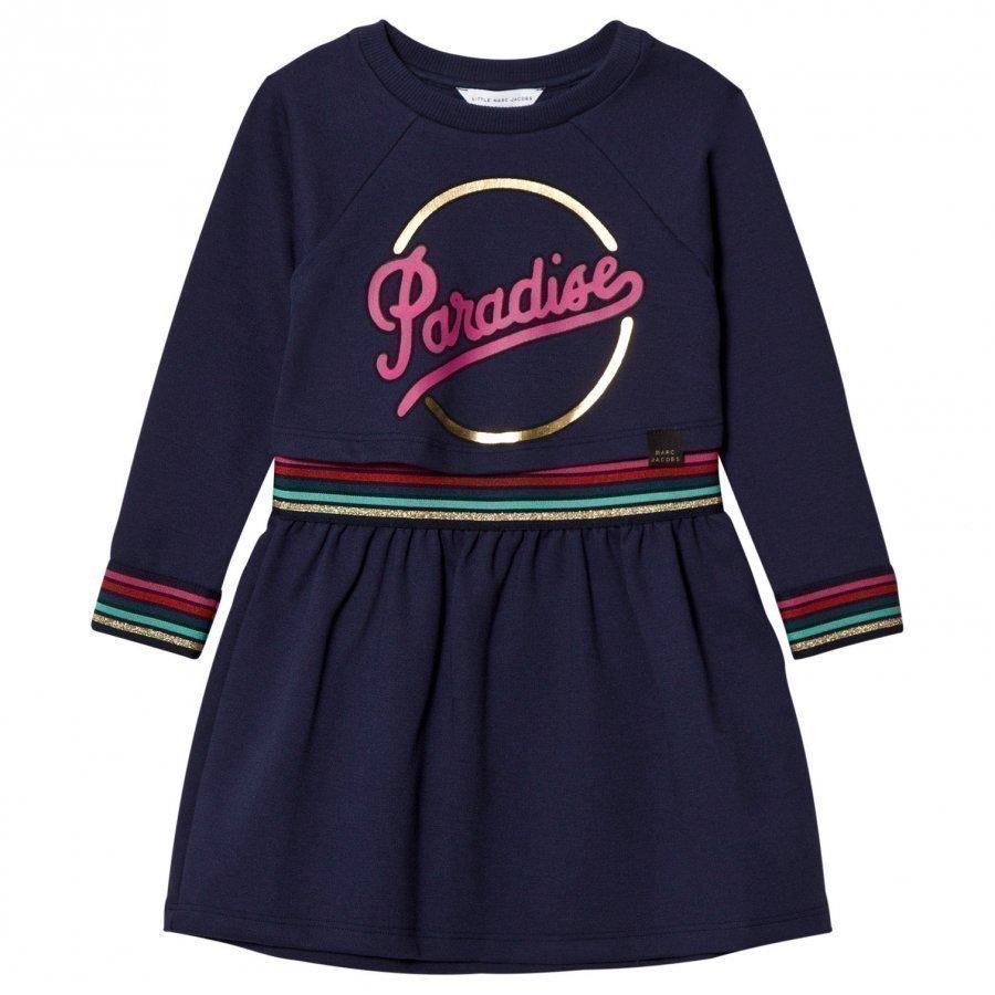 Little Marc Jacobs Navy Paradise Print Milano Dress Mekko