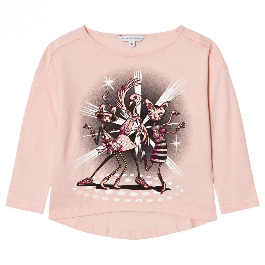 Little Marc Jacobs Pale Pink Disco Animal Print Tee T-Paita