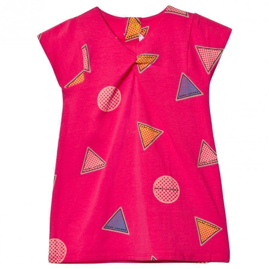 Little Marc Jacobs Pink All Over Branded Print Jersey Dress Mekko