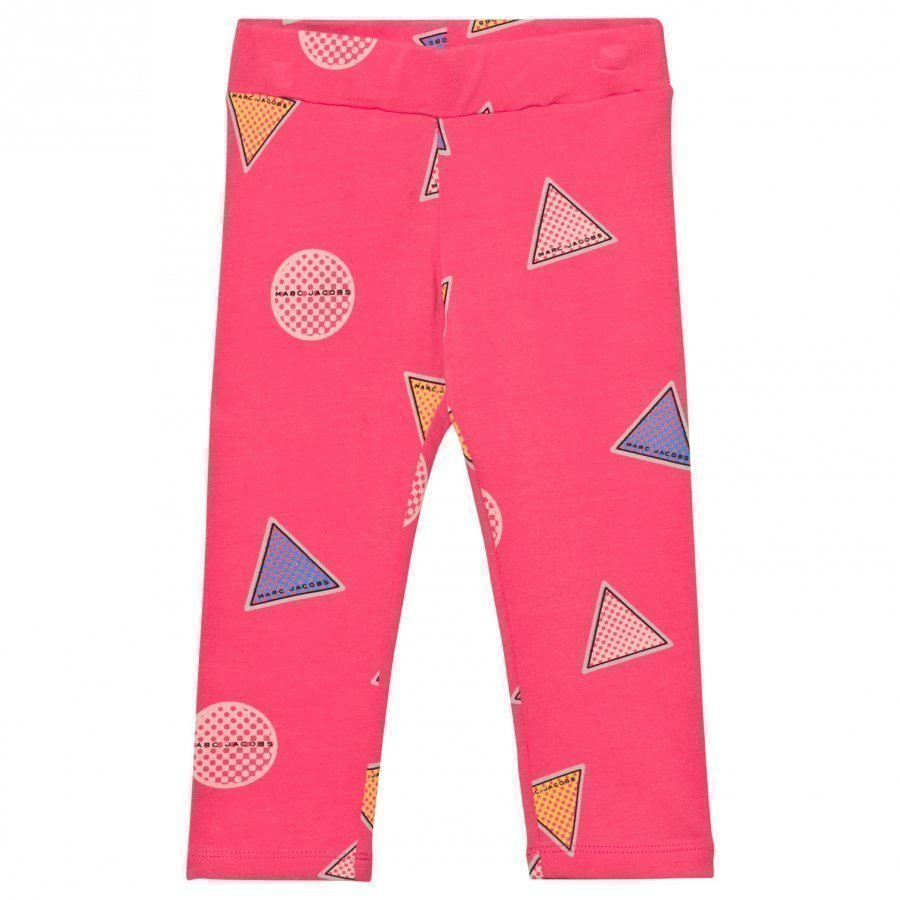Little Marc Jacobs Pink Branded Badge Leggings Legginsit