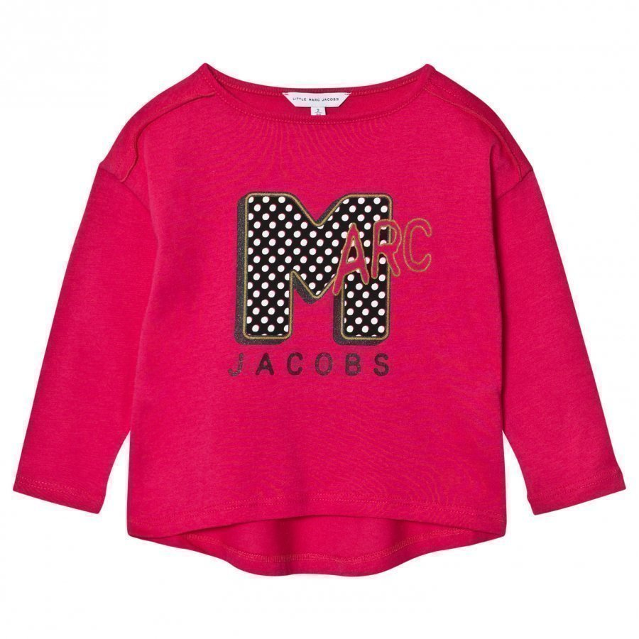 Little Marc Jacobs Pink Marc Mtv Print Tee T-Paita