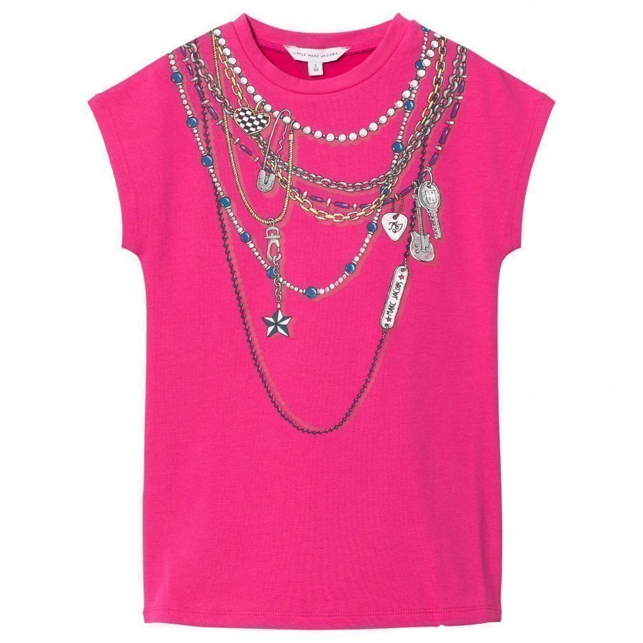Little Marc Jacobs Pink Necklace Jersey Dress Mekko