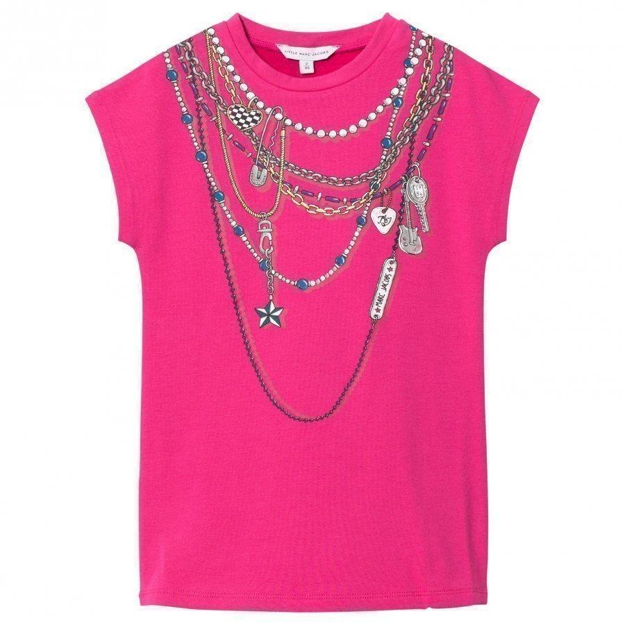 Little Marc Jacobs Pink Necklace Jersey Dress Mekko
