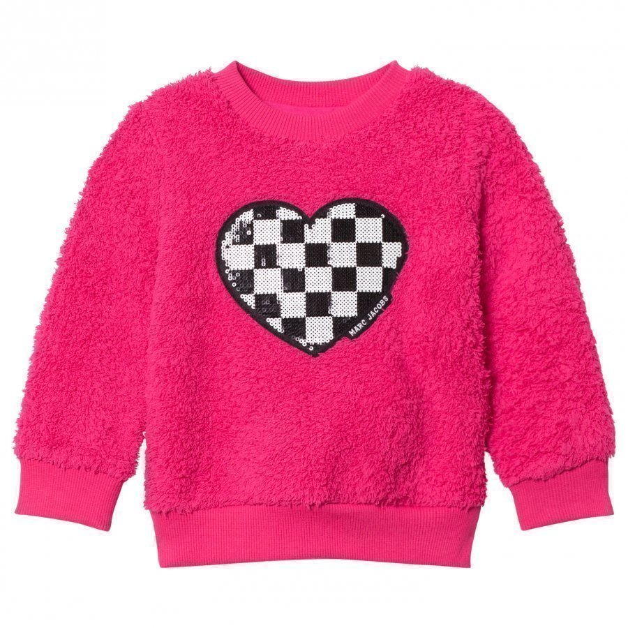 Little Marc Jacobs Pink Sequin Furry Sweater Oloasun Paita
