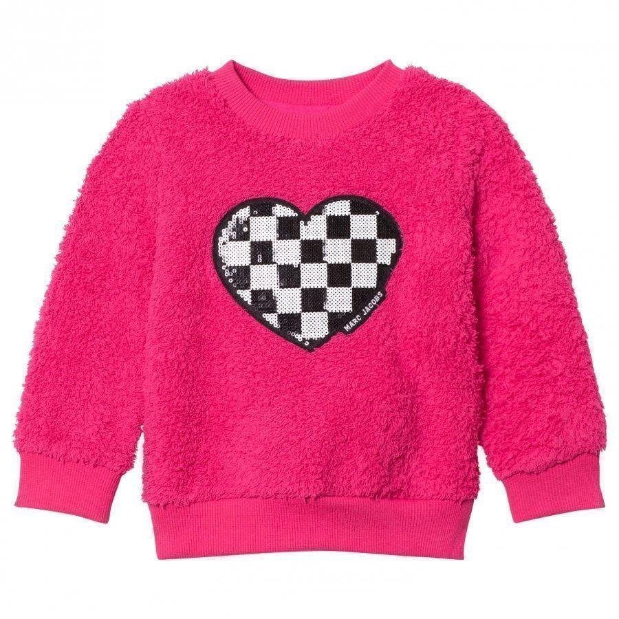 Little Marc Jacobs Pink Sequin Furry Sweater Oloasun Paita