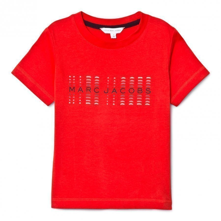 Little Marc Jacobs Red Branded Tee T-Paita