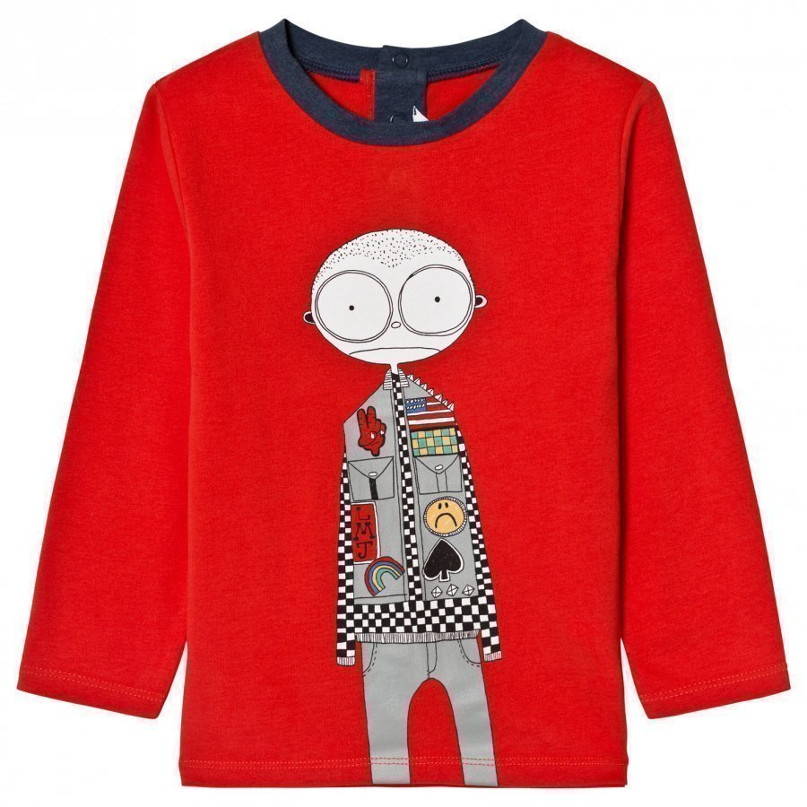Little Marc Jacobs Red Mr Marc Racing Driver Print Tee T-Paita