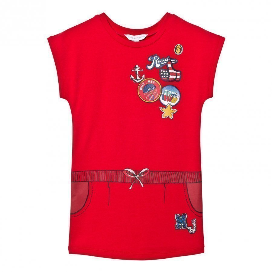 Little Marc Jacobs Red Nautical Badge Print Dress Mekko