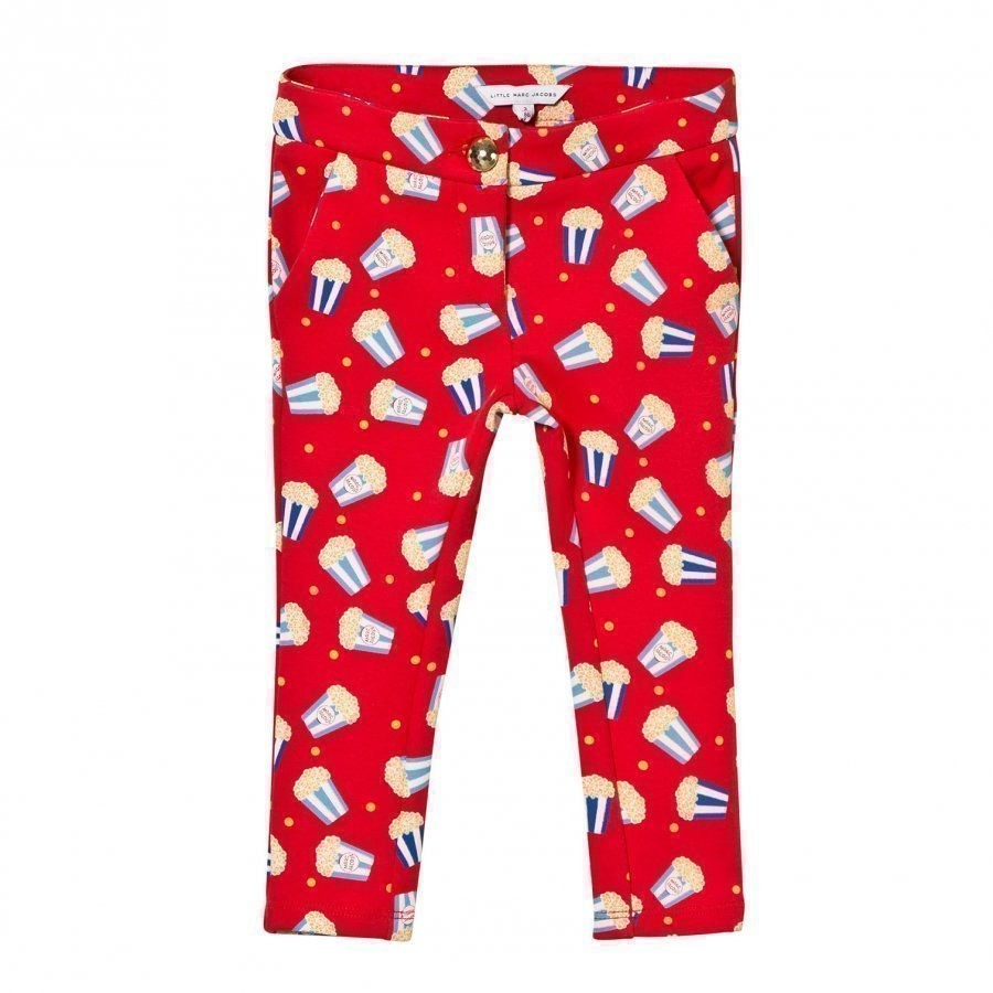 Little Marc Jacobs Red Popcorn Print Milano Trousers Housut