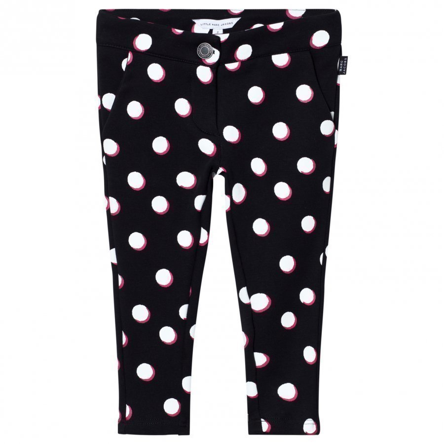 Little Marc Jacobs Spot Jersey Trousers Black White And Pink Housut
