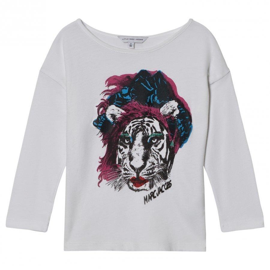 Little Marc Jacobs White Tiger Print Tee T-Paita