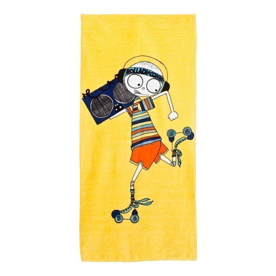 Little Marc Jacobs Yellow Mr Marc Rollerdisco Towel Rantapyyhe