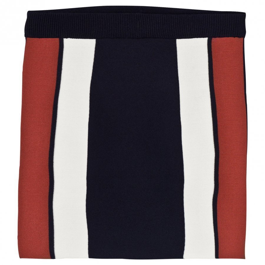 Little Remix Casey Skirt Navy/Dusty Red/White Lyhyt Hame