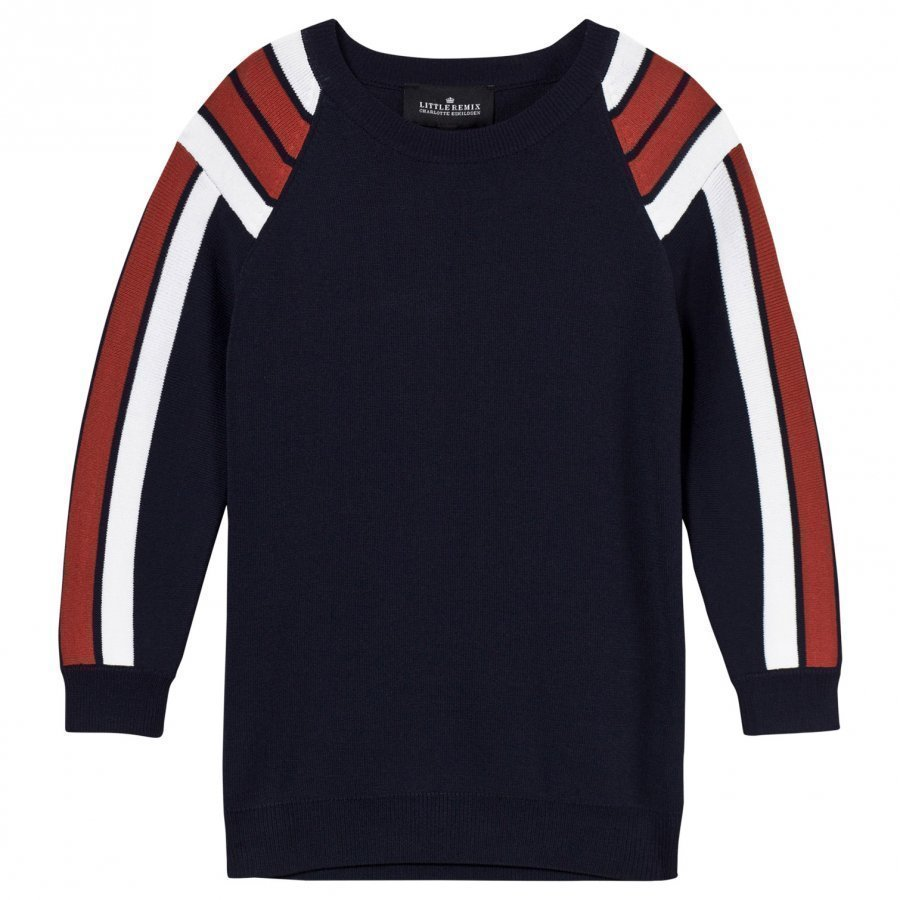 Little Remix Casey Stripe Jumper Navy/Dusty Red/White Paita