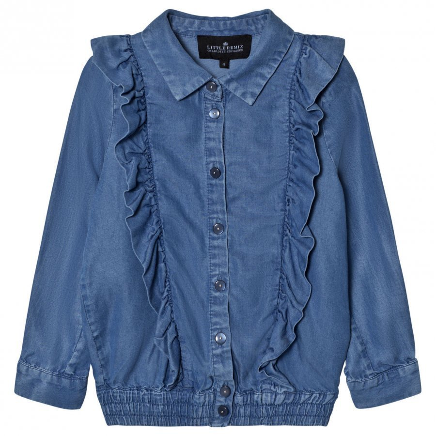 Little Remix Jr Gracie Blouse Denim Pusero