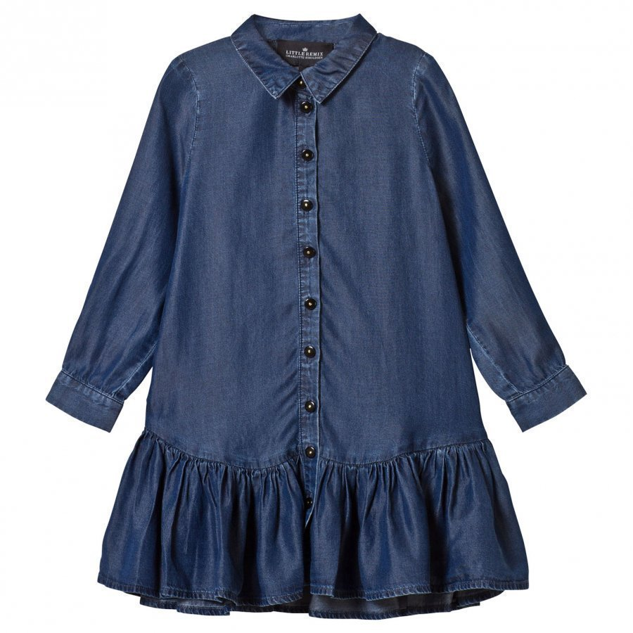 Little Remix Jr Gwen Shirtdress Medium Denim Mekko