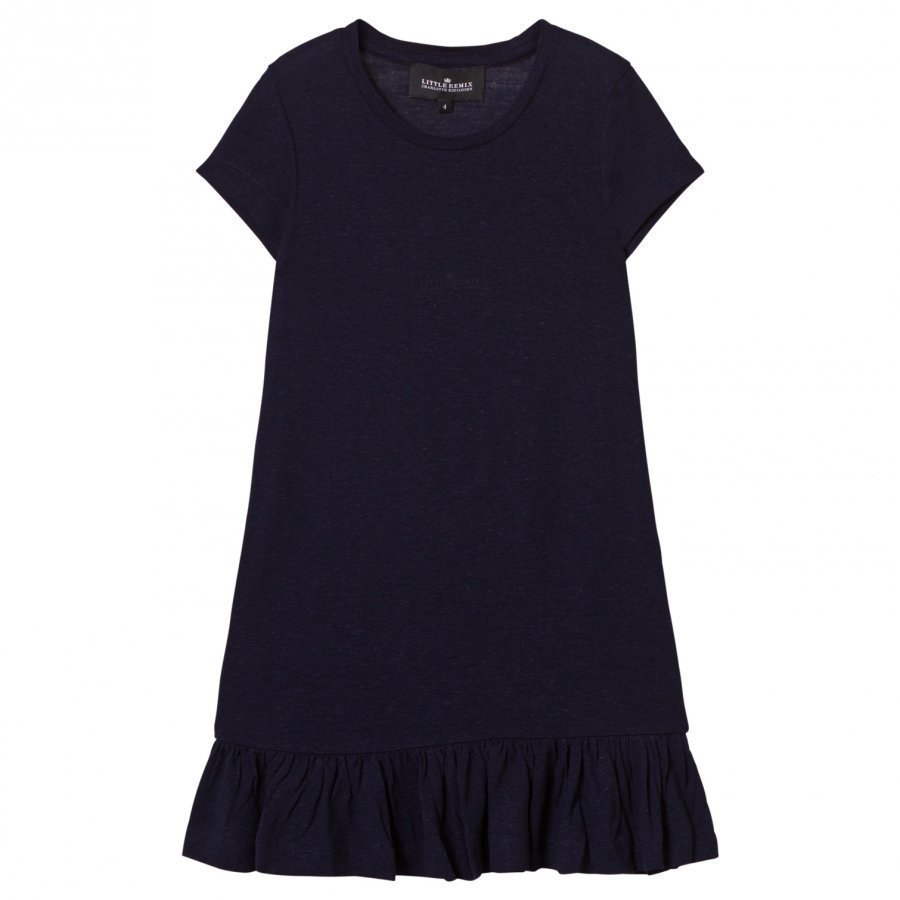 Little Remix Jr New Blos Ruffle Dress Navy Mekko