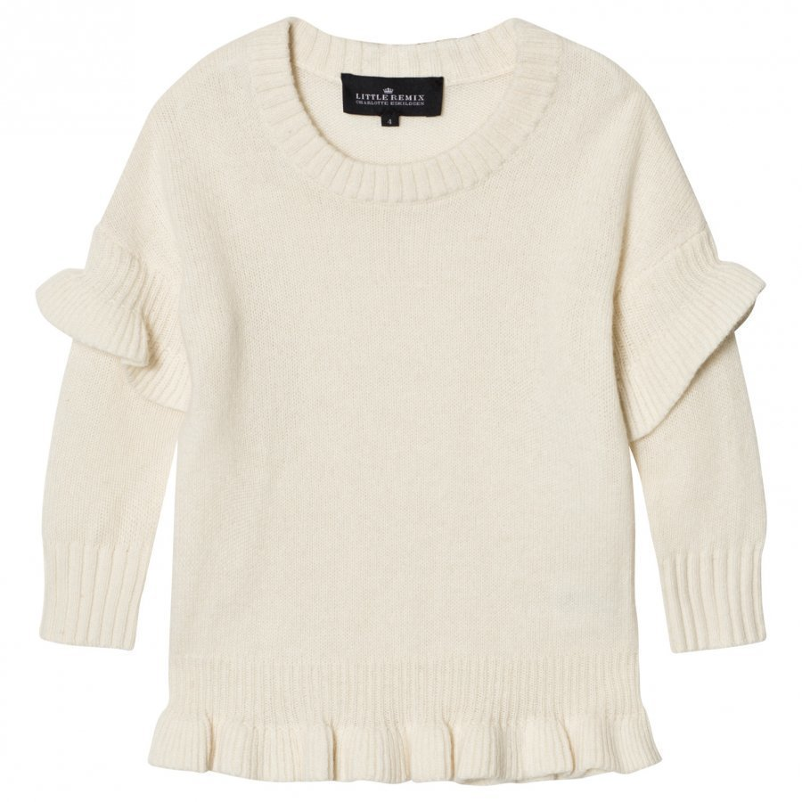 Little Remix Jr Sydni Ruffle Sweater Ivory Oloasun Paita