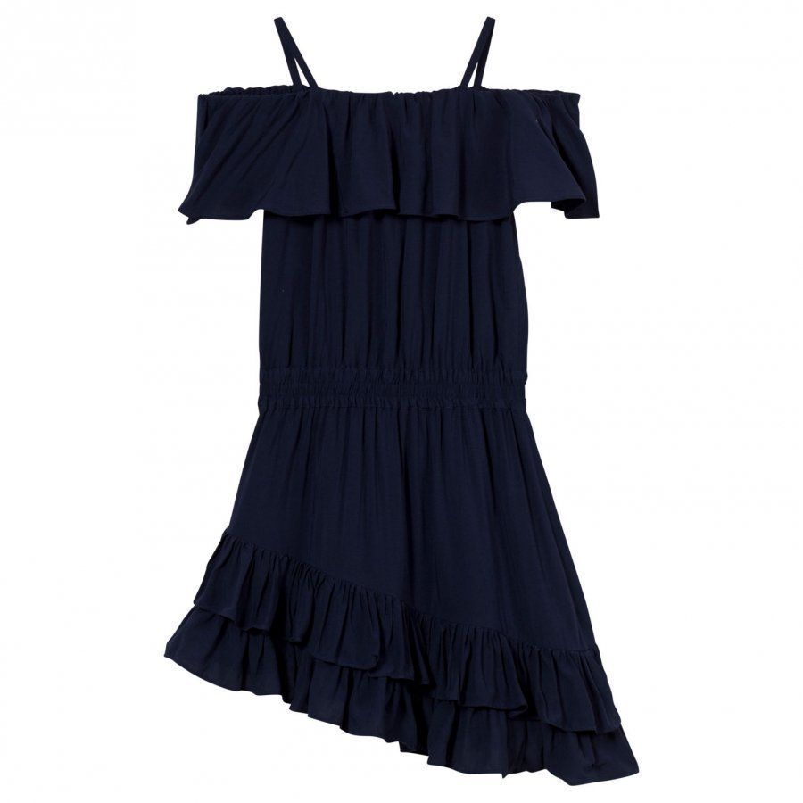 Little Remix Rion Ruffle Dress Navy Juhlamekko