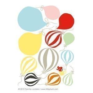 Littlephant Balloon Seinätarra