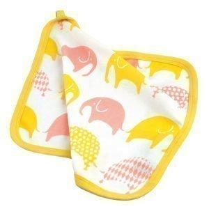 Littlephant Elephant Baby Comforter Peite Valkoinen / Keltainen / Vaaleanpunainen