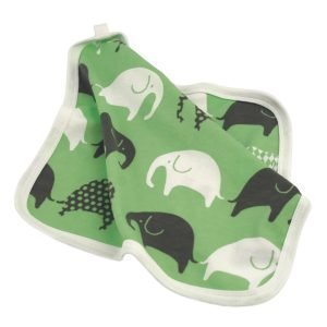 Littlephant Elephant Baby Comforter Peite Vihreä / Harmaa