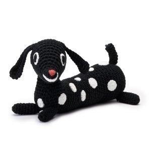 Littlephant Puppy Melody Soft Lelu Musta / Valkoinen