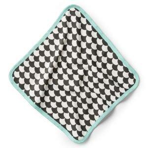 Littlephant Waves Baby Comforter Peite Valkoinen / Musta